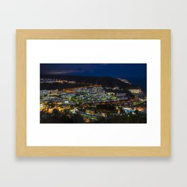 Puerto Rico by night  Framed Art Print