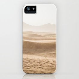 Windy desert iPhone Case
