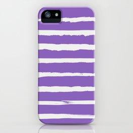 Irregular Hand Painted Stripes Purple iPhone Case