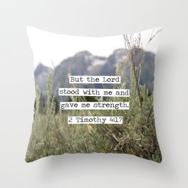 2 Timothy 4:17, Grand Teton Throw Pillow