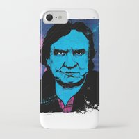 johnny cash iPhone & iPod Cases featuring Johnny Cash by Todd Bane