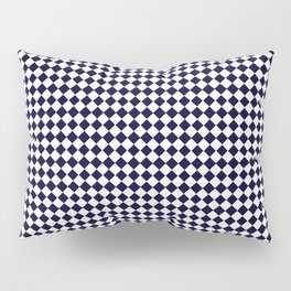Diamond navy white Pillow Sham