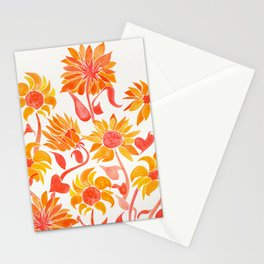 Sunflower Watercolor – Fiery Palette Stationery Cards