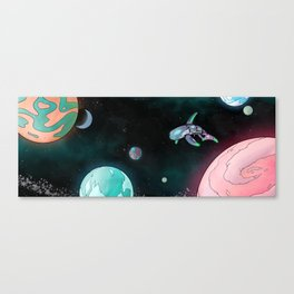 The Bravest of Space Whales Canvas Print