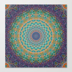 Travel Into Dimensions Mandala. Canvas Print