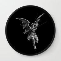 satan Wall Clocks featuring Satan by TheMessianicManic