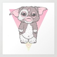 gizmo Art Prints featuring Gizmo by lOll3