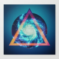 Space galaxy triangle  Canvas Print