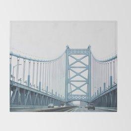 The Ben Franklin Bridge Throw Blanket