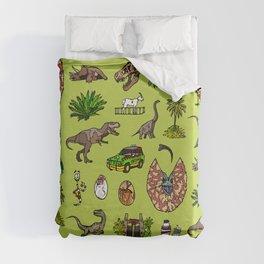 Jurassic pattern lighter Duvet Cover