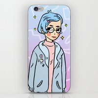 annie hall iPhone & iPod Skins featuring Annie by KITA