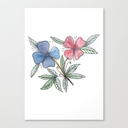 painted flower Canvas Print