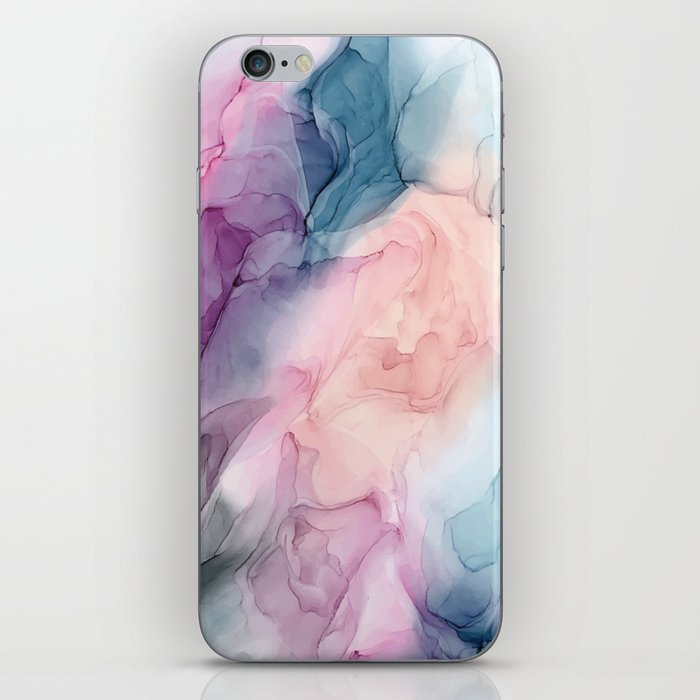 Dark and Pastel Ethereal- Original Fluid Art Painting iPhone Skin