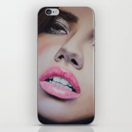 Adriana Lima Oil on Canvas Portrait iPhone Skin