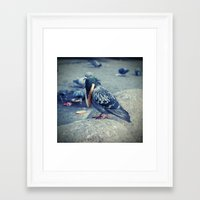 hiphop Framed Art Prints featuring HipHop Dove Watch by Sigurdfisk