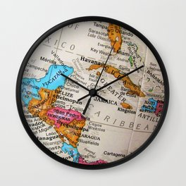 Map Art Wall Clock