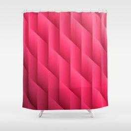 Gradient Pink Diamonds Geometric Shapes Shower Curtain