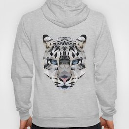 Low poly snow leopard Hoody
