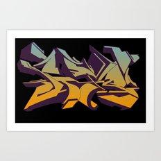 Sky graffiti Art Print