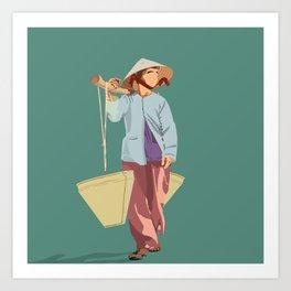 Water Bearer Old Lady Art Print