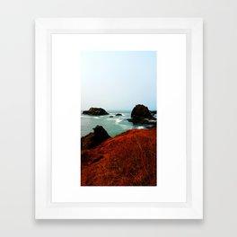 Red Thunder Rock Cove Framed Art Print