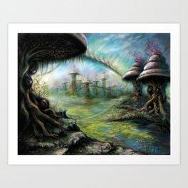 Alien Landscape Art Print