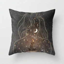 I see the universe in you. Throw Pillow
