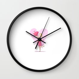 Mommy's Cooking For Valentine's Day Wall Clock