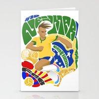 neymar Stationery Cards featuring Neymar by Simon Estrada