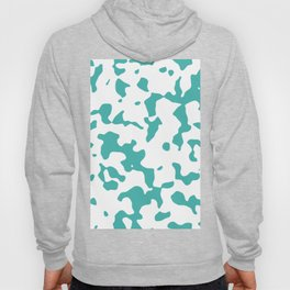 Large Spots - White and Verdigris Hoody