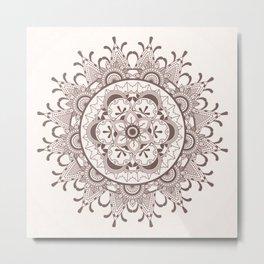 Mandala chocolate Metal Print