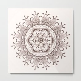 Mandala chocolate Metal Print