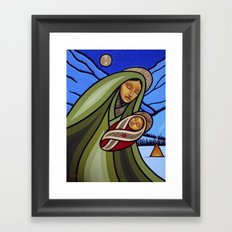 Mother and Child (Mountains) Framed Art Print