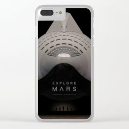 Explore Mars Clear iPhone Case