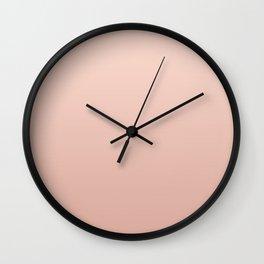 Nude Gradient  Wall Clock