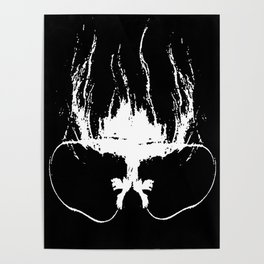 Flaming Specs Poster