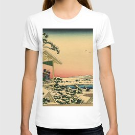 Japanese teahouse after the snow T-shirt