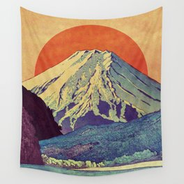 The Red Sunrise at Dayai Shore Wall Tapestry