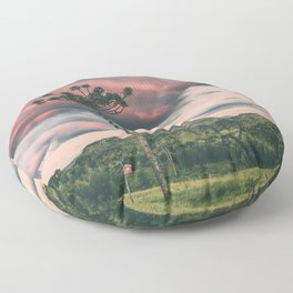 Araucaria in the Sky Floor Pillow