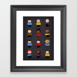 Star T - Little Ppl Framed Art Print
