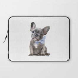 French bulldog, Frenchie, Blue Grey by Amanda Greenwood Laptop Sleeve