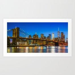 New York City Skyline Panorama Art Print