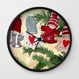 Christmas tree dolls Wall Clock