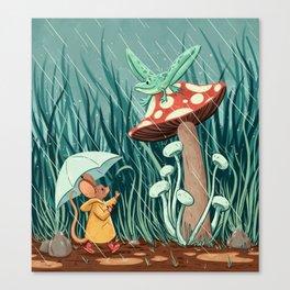 Rainy Day Pals Canvas Print