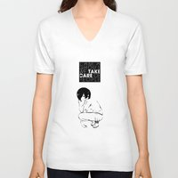 tokyo ghoul V-neck T-shirts featuring I am a Ghoul  by Touko Rabbit