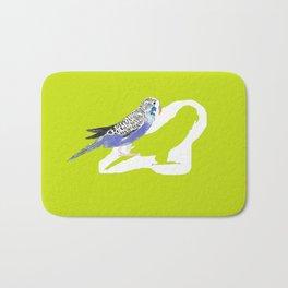 Pistachio shadow parakeet Bath Mat