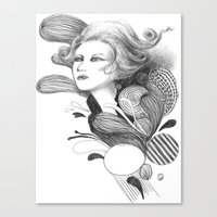 beethoven Canvas Prints featuring Beethoven by Wendy Ding: Illustration
