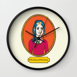 Oh My Darling Clementine Wall Clock
