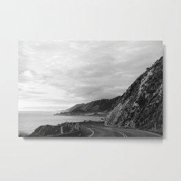Big Sur Sunset Drive Metal Print