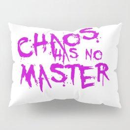 Chaos Has No Master Purple Graffiti Text Pillow Sham